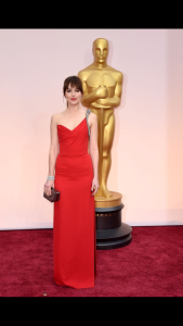 naturally beautiful Dakota Johnson in Saint Laurent