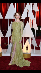 Emma Stone in a beautiful Elie Saab split dress