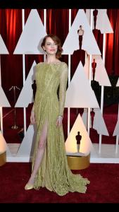 Emma Stone in a beautiful Elie Saab split dress