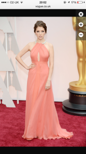 Anna Kendrick in pastels by Thakoon