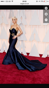 Rita Ora in a classic Marchesa Hollywood style gown