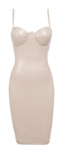 """LANA"" leatherette bustier pencil dress houseofcb - £109"