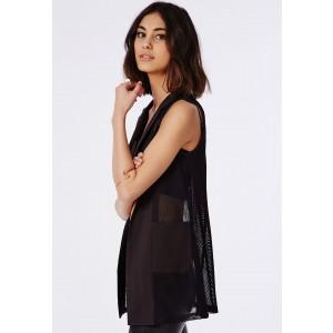Sleeveless mesh blazer - £30