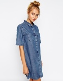 oversized denim dress £40