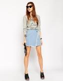 wrap mini skirt £28