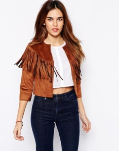 fringe detail jacket - £42