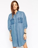 denim shirt dress £40