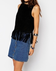 shell top with fringe - £45