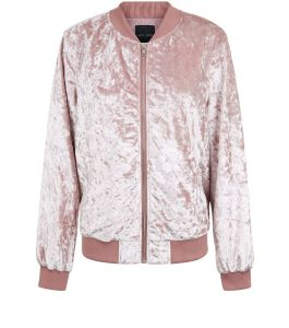 pink-crushed-velvet-bomber-jacket